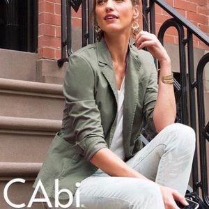 CAbi Olive Green Taylor Jacket